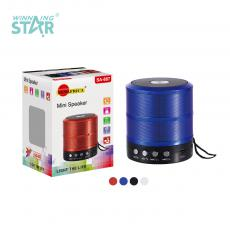 SA-887 New Arrival SUN AFRICA 5V 3W ABS Portable Mini Speaker with Bluetooth/USB/TF 14500 Battery 400mAh USB Charging Line rope
