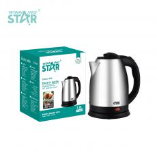 ST-6009 New Arrival WINNING STAR 1500W 220V-240V 201 Stainless Steel Electric Kettle Drinking Water Boiling Pot 1.8Lwith Automatic Power Off Anti-Dry Burning Bimetallic Thermostat 0.8m Cable BS Plug