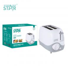 ST-9312 New Arrival Winning Star Sandwish Toaster AC 220-240V, 50/60Hz, 600-700W with Time Control, Metal Side Plate, Time Control, Bread Pops Up, Switch Shuts Off, 7 Gears 2 Slots, Mechanical Control, Double-Sided Baking, Power Cord: 3*0.5