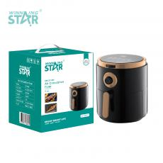 ST-9642 New Arrival WINNING STAR 1700W Air Circulation Fryer 5.6L with 1-30min/1-200℃ Adjustment 9-Leaf Fan Fever Removable Food Basket Insulated Handle Copper Clad Aluminum Motor 96cm Copper Power Cable BS Plug