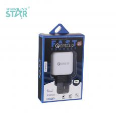 New Arrival 3A Q5 Fast-Charging Charger with USB Port VDE Plug