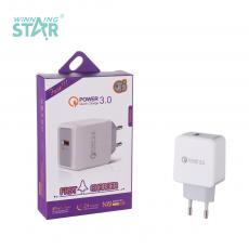 New Arrival 3A QC3.0 Fast-Charging Charger with USB Port VDE Plug