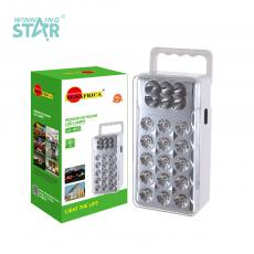 SA-460 New Arrival SUN AFRICA 15+6 LED Emergency Light with 3*1# Battery