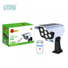 SA-2178T New Arrival SUN AFRICA Solar Monitor Shape Sensor Lamp with 77 2835 Patch Lamp Beads Human Infrared Sensing Lithium Battery 2400mAh 3 Step Button Switch Remote Control
