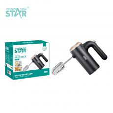 ST-5527 New Arrival WINNING STAR 150W Hand Mixer Egg Beater with 2 Kinds of Mixing Bar 5 Gear Switch Speed Regulation VDE Plug