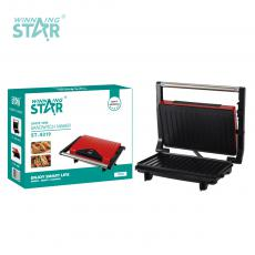ST-9319 New Arrival WINNING STAR 220-240V 750W Swappable Striped Plate Panini Sandwich Maker with Nonstick Aluminum Baking Plate 0.7m Power Line VDE Plug