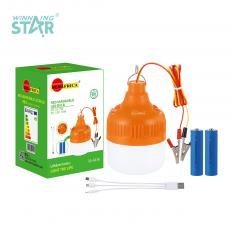 SA-6616 New Arrival SUN AFRICA LED Lamp with 12V 18 2835 Lamp Beads+Emergency Low Voltage 30 2835 Lamp Beads Opal Lampshade 18650 Lithium Battery 2400mAh 5 Step Switch USB/V8 Port 3 In 1 Charging Line