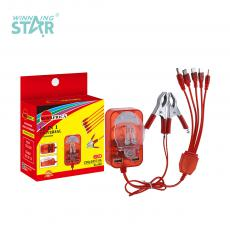 SA-999 New Arrival SUN AFRICA Universal Clip Charger with 5 In 1 V3/V8*2/7201/6101 Line 2*USB Port 50cm 2*Clip