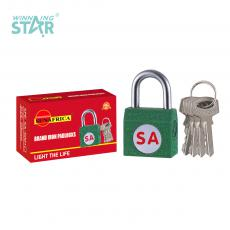SA-S001 New Arrival SUN AFRICA Side Iron Pad Lock 29.5g with 4 Keys