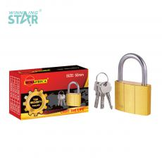 SA-S009 New Arrival SUN AFRICA 50# Imitation Copper Pad Lock 224g with 3 Atomic Crescent Keys