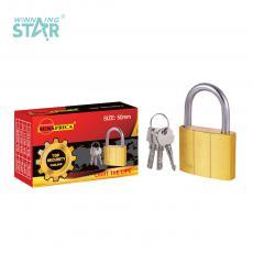 SA-S010 New Arrival SUN AFRICA 50# Imitation Copper Pad Lock 224g with 3 Cross Keys