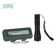 BN-525 New Arrival Rechargeable Retractable Zoom Aluminum Alloy Flashlight with XPE Lamp Bead 18650 Lithium Battery 1200mAh 3 Step Switch rope V8 Port USB Charging Line