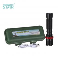 BN-527 New Arrival Rechargeable Retractable Zoom Aluminum Alloy Flashlight with XPE Lamp Bead 14500 Lithium Battery 1200mAh 3 Step Switch rope V8 Port USB Charging Line