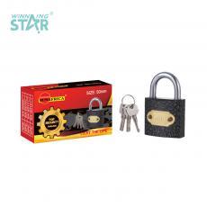 SA-S011 New Arrival SUN AFRICA 50# Plastic Spray Pad Lock 224g with 3 Atomic Crescent Keys