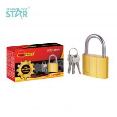 SA-S013 New Arrival SUN AFRICA 63# Imitation Copper Pad Lock 395g with 3 Atomic Crescent Keys