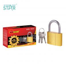 SA-S018 New Arrival SUN AFRICA 75# Imitation Copper Pad Lock 525g with 3 Cross Keys