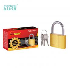 SA-S017 New Arrival SUN AFRICA 75# Imitation Copper Pad Lock 525g with 3 Atomic Crescent Keys