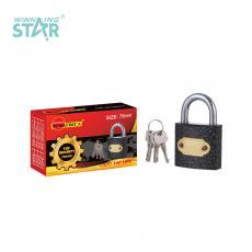 SA-S019 New Arrival SUN AFRICA 75# Plastic Spray Pad Lock 525g with 3 Atomic Crescent Keys