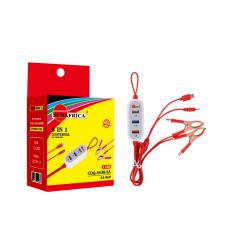 SA-969 Sun Africa Clip Charger with 3U Charger 2 kind of Charge 6101/8600/ 0.12*7 Pure Copper Line 2/30A Copper Plated Red Clips 1M Brand New PVC Red Line 12-24V Voltage Input 5V output 1A White Shell Hot Sale Wholesale in Africa