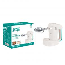 ST-5528 New Arrival WINNING STAR 100W Hand Mixer Egg Beater with Knead Dough 2 Shapes Agitator Bar 5 Speed Regulation 2m Copper Cable VDE Plug