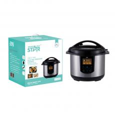 ST-9336 New Arrival WINNING STAR 1350W Multifunction Electric Pressure Cooker 10L with IMD Full Touch Panel Aluminum Double Spray Liner Plastic Measuring Cups And Rice Spoon BS Plug