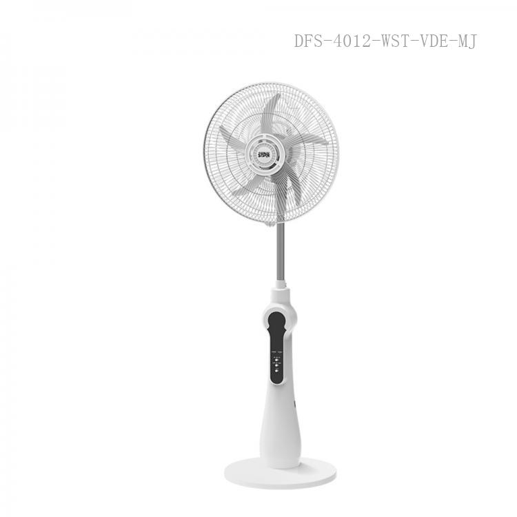 """ST-4004 WINNIG STAR AC 110-264V 32W  DC 12V Remote Control 16"""" Stand Rechargeable Solar Fan with Phone Charger LED Lamp Over discharging Protection ABS Materil, Copper Motor 128pc Grills 5 Leaf Blades Working time 9-10 Hous, Charging Time 2"""