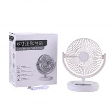MG-606F New Arrival 6InchAC/DC USB  Rechargeable  Mini Fan with 3 Speeds 6  Blades 50/60HZ, 220V-240V, LED Light, AC/DC 3.7V 1200 mAh Battery, ABS, Unit Size:  210*115*250mm,One Year Warranty. Hot Sale Wholesale in Africa.