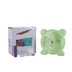 New Arrival 4W 5V Three-blade Standing Panda Shape Rechargeable Fan with USB Port Battery 1200mAh