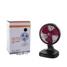 CH-688 New Arrival 2.5W DC5V/2A ABS+PP Folding Fan with 2 Step Switch 2000rpm Battery 1500mAh