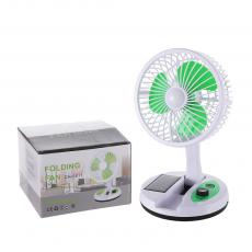CH-5811 New Arrival 5W DC5V/2A ABS+PP Folding Fan with 2 Step Switch 8 LED Battery 1500mAh