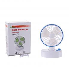 CH-699 New Arrival 5W DC5V/2A ABS+PP Folding Fan with LED Battery 1500mAh