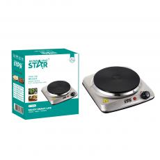 ST-9632 New Arrival WINNING STAR 1500W Single Burner Heater Hot Plate with VDE Plug Glass Cast Iron Hot Plate Power Light Adjustable Temperature Control 201 Stainless Steel Case