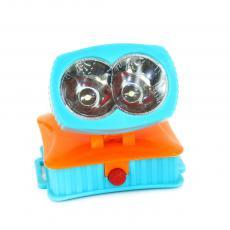 Light weight 2 led headlamp,battery powered led headlight,led head lamp