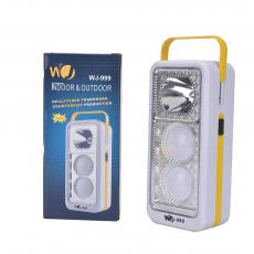 WJ-999 2bulbs+1W LED flashlight powered by 3pcs batteries with handle