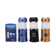 ZM-5200 Mini Flexible Camping Lantern Powered By 3AA Battery With Battery Clamp Milky White Lampshade