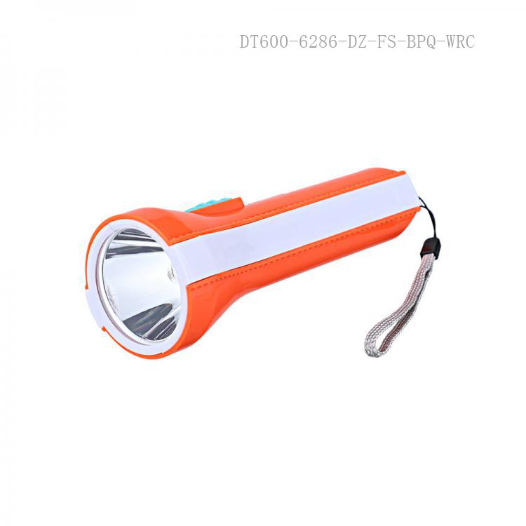 YW-6688 LED Torch Flashlight with usb/v8 interface 15*5cm