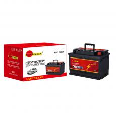 SA-O75 New Arrival SUN AFRICA 12V75Ah 16.1kg Maintenance-Free Car Battery 278*174*190mm with 6+6-M62