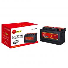 SA-O80 New Arrival SUN AFRICA 12V80Ah 16.1kg Maintenance-Free Car Battery 312*173*190mm with 6+6-M62 7+7-L60