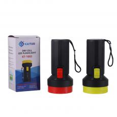 KT-1003 KAITUO Flashlight Torch Use 1*A Cell One Step Switch, Height: 11.5CM, Head Diameter: 5.4 CM, Hotsale Wholesale in Africa.