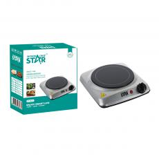 ST-9672 New Arrival WINNING STAR 1200W Single Burner Ceramic Heater Hot Plate with BS Plug Glass Ceramic Hot Plate Power Light Adjustable Temperature Control 201 Stainless Steel Case