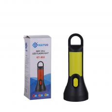 KT-802 New Arrival KAITUO 1W Dry Cell Dry Battery Flashlight with 1 Step Switch 3 5# Batteries