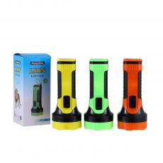 PC-005  New Style  Portable 1 W Flashlight Torch 3 pcs AA  Cell workable On/Off  Switch  Unit Size: 6cm ɸ*14.8 cm H