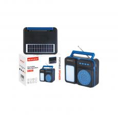 NV-8937 New Arrival NEWVEW ABS Portable Mini Speaker with Bluetooth/USB/TF/AUX/FM/DC5V Handle External Antenna 5.5V1W Solar Panel 2W Emergency Light 4Ω5W Speaker 18650 Lithium Battery 1200mAh USB Charging Wire