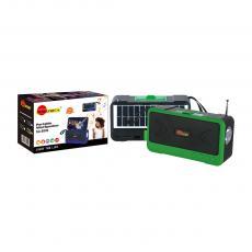 SA-8900 New Arrival SUN AFRICA Portable Mini Speaker with USB/TF/FM External Antenna Phone Stand Flashlight Solar Panel 5W Speaker 18650 Lithium Battery 1200mAh