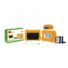 SA-6637 New Arrival SUN AFRICA Solar System with 80WEmergency Light DC5.0*3/DC4.0/V8/USB Port 6V2W Solar Panel 3 in 1 Charging Wire 2*3m DC Wire Square LED Light 18650 Battery 9600mAh 4 Step Button Switch Power Display Handle
