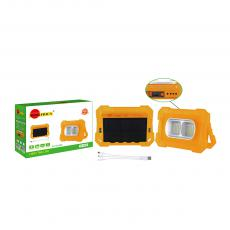 SA-6638 New Arrival SUN AFRICA Solar System with 80WEmergency Light DC5.0*3/DC4.0/V8/USB Port 6V2W Solar Panel 3 in 1 Charging Wire 2*3m DC Wire Square LED Light 18650 Battery 9600mAh 4 Step Button Switch Power Display Handle