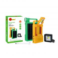 SA-7856 New Arrival SUN AFRICA ABS COB+Light Solar System with 6V/3.5W Polycrystalline Solar Panel  18650 Lithium Battery 2400mAh COB Square Lamp 3 in 1 Charging Wire