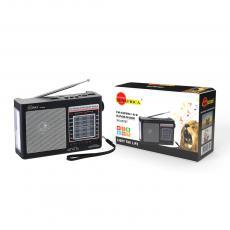 SA-097BT New Arrival SUN AFRICA Portable Solar Radio with FM/AM/SW 1-6 8BAND RADIO Bluetooth/USB/TF/LED/DC5V 6V1W Solar Panel External Antenna 18650 Battery 1200mAh USB Charging Wire