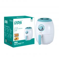 ST-9643 New Arrival WINNING STAR 1350W Air Circulation Fryer 3L with 0-30min/80-200℃ Adjustment Fan Fever Food Steaming Frame Safety Protection Micro Switch 90-94cm Exposed Power Cable BS Plug