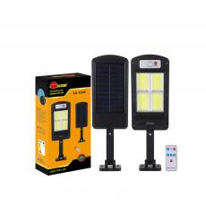 SA-3348 New Arrival SUN AFRICA 365*113mm ABS Solar COB Street Light with 4*COB Light Control/Remote Control/Human Body Induction 3 Step Switch Screw